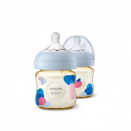 Philips Avent Natural PPSU Baby Feeding Bottle Twin Pack 125ml / 260ml