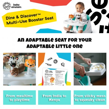 Baby Einstein Dine & Discover™ Multi-Use Baby Booster Seat With 2 Suction Cup Rattles